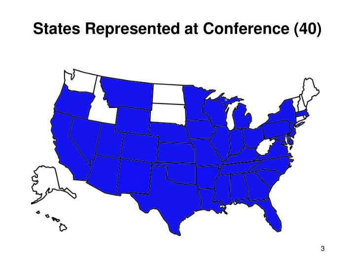 States represented at conference 40