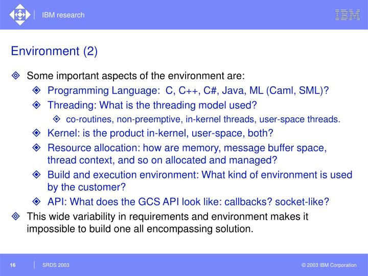 Environment (2)