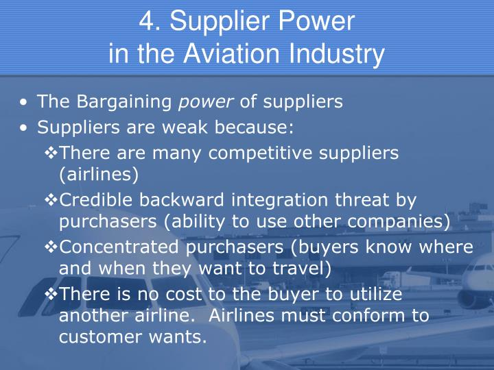 4. Supplier Power