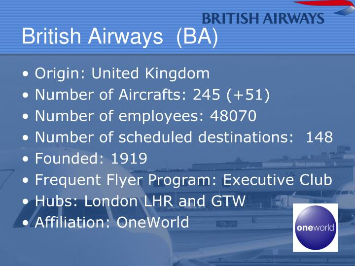 British Airways  (BA)