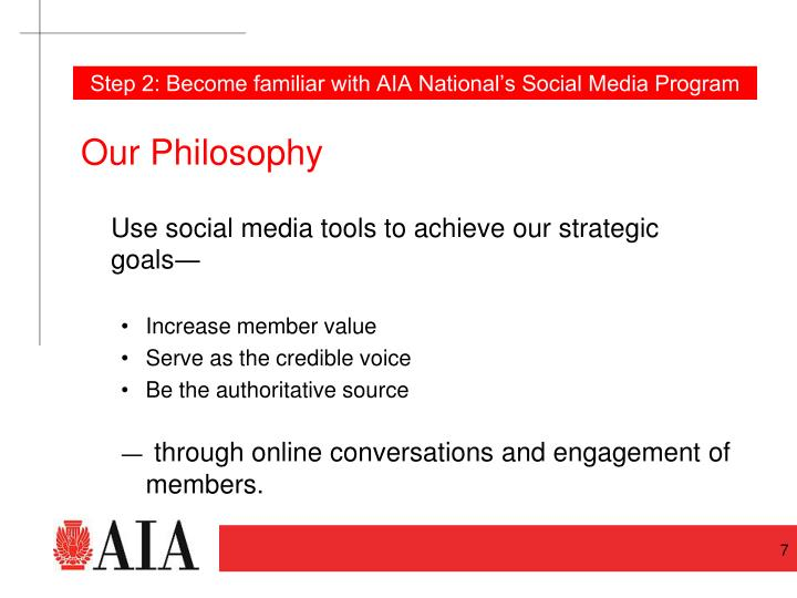 Step 2: Become familiar with AIA National's Social Media Program
