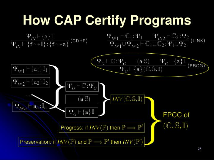 How CAP Certify Programs