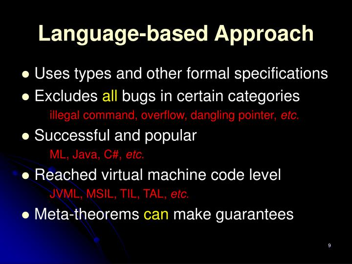 Language-based Approach