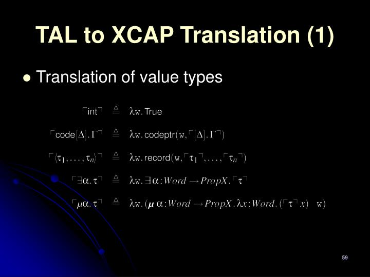 TAL to XCAP Translation (1)
