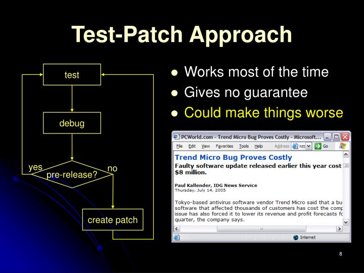 Test-Patch Approach