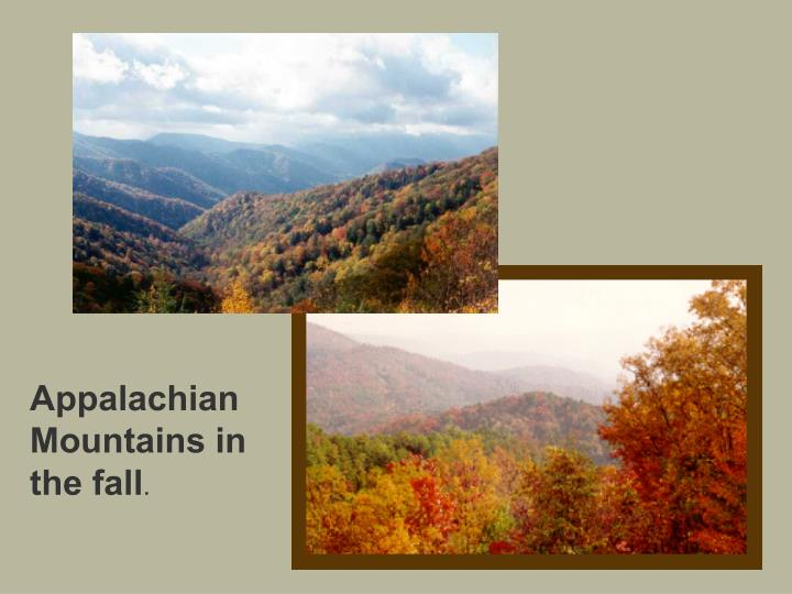 Appalachian Mountains in the fall