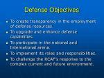 defense objectives