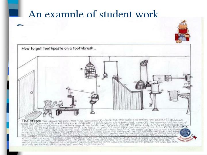 An example of student work