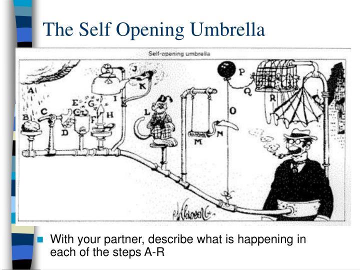 The Self Opening Umbrella