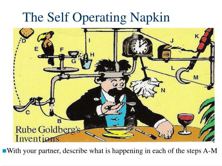 The Self Operating Napkin