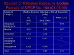 sources of radiation exposure update release of nrcp no 160 03 03 09