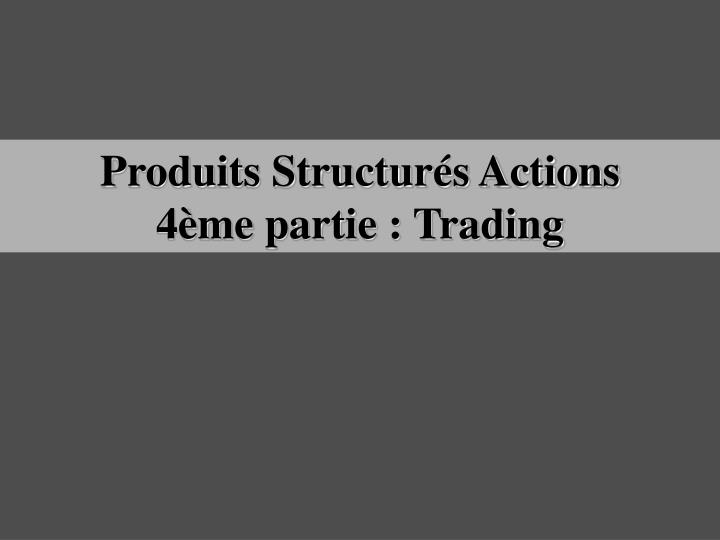 Produits Structurés Actions