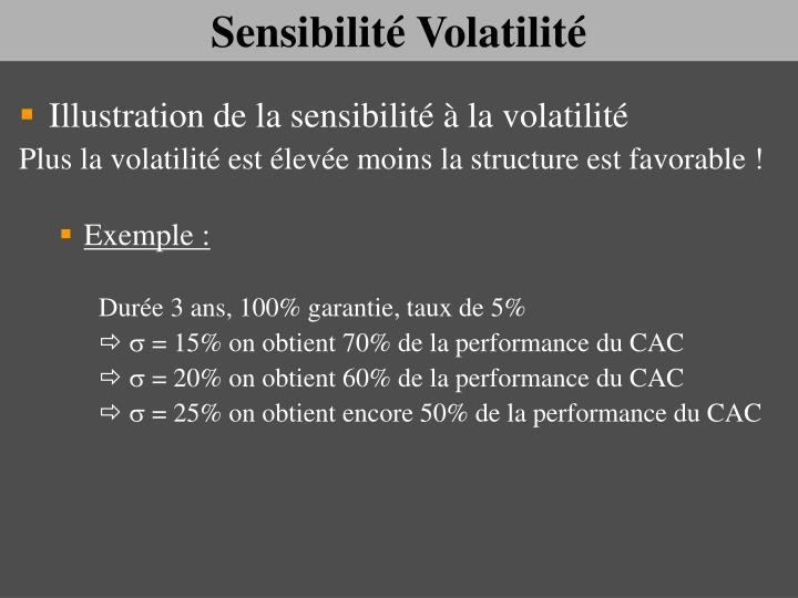 Sensibilité Volatilité