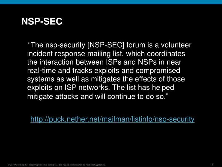 NSP-SEC