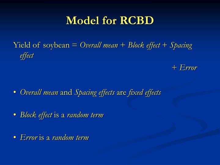 Model for RCBD
