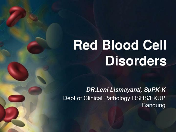 red blood cell disorders n.