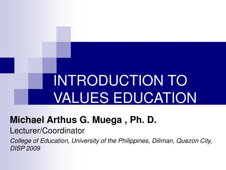 introduction to values education n.