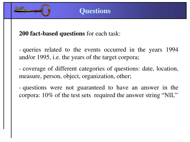 200 fact-based questions