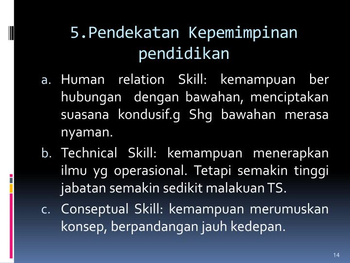 5.Pendekatan