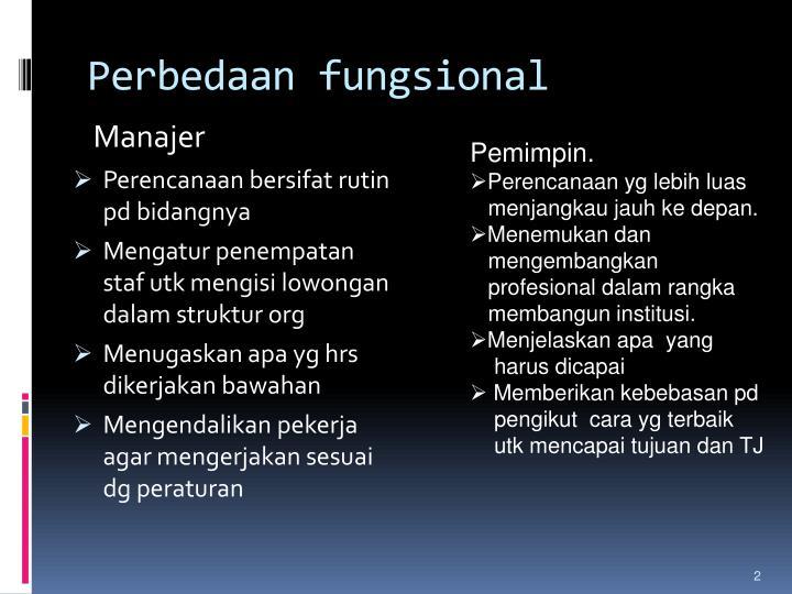 Perbedaan fungsional