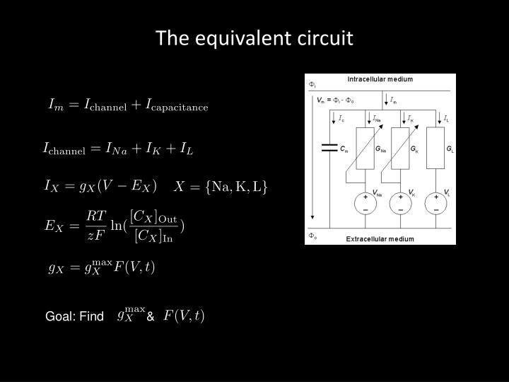 The equivalent circuit