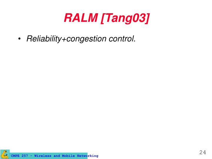 RALM [Tang03]