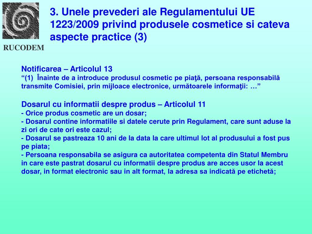 Regulament 1223 cosmetice