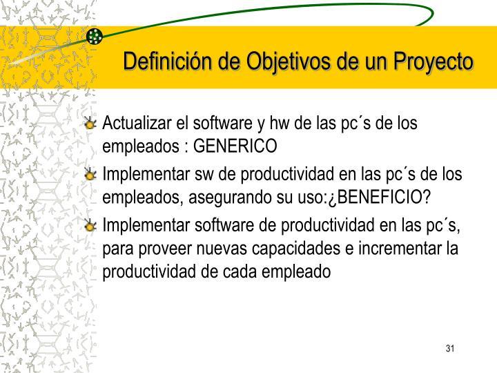 Definición de Objetivos de un Proyecto