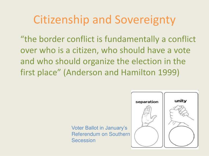 Citizenship and Sovereignty