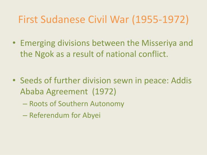 First Sudanese Civil War (1955-1972)