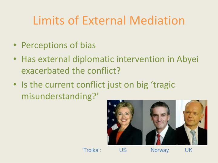 Limits of External Mediation