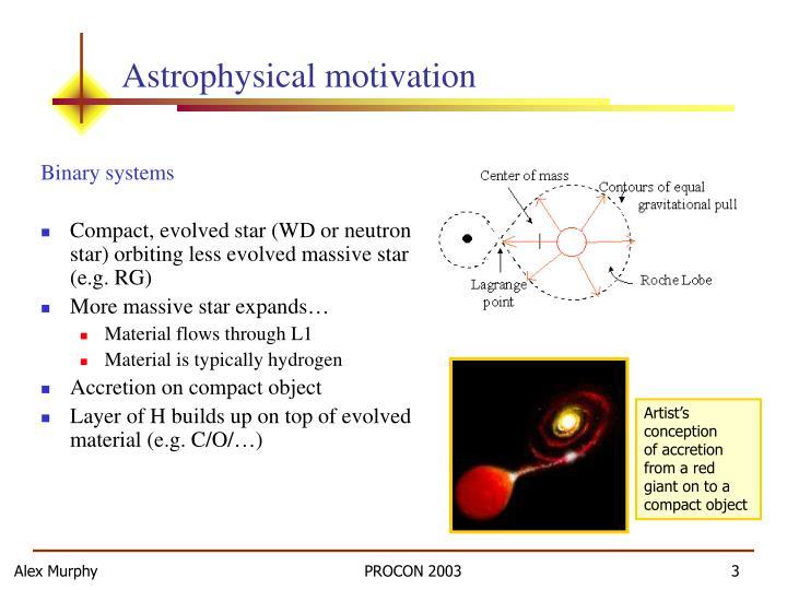 Astrophysical motivation
