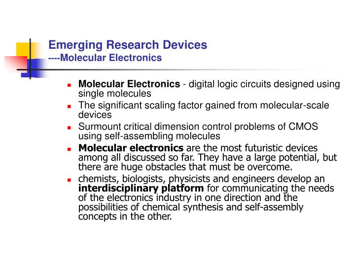Emerging Research Devices