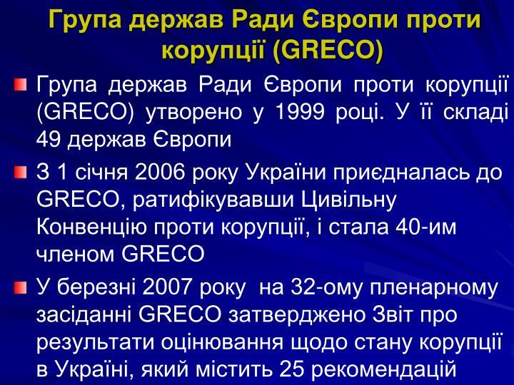Група держав Ради Європи проти корупції (
