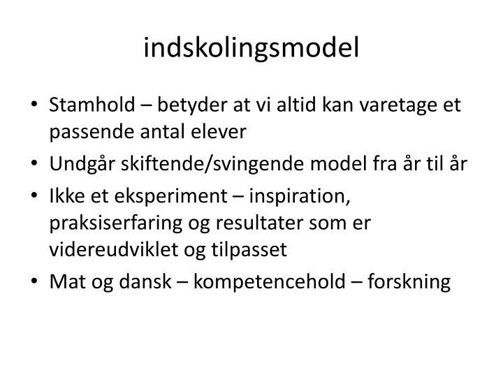 indskolingsmodel