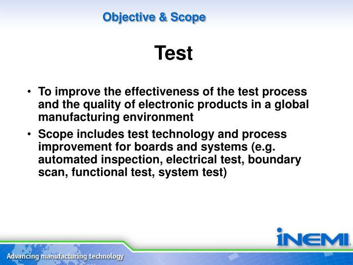 Objective & Scope