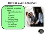 develop guest check out