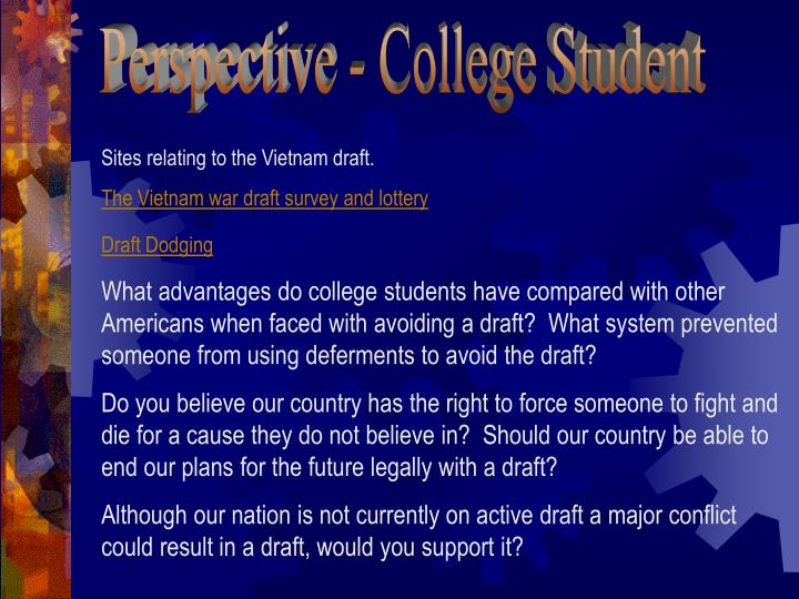 Perspective - College Student