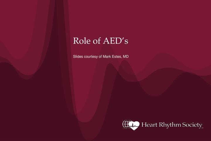 role of aed s n.