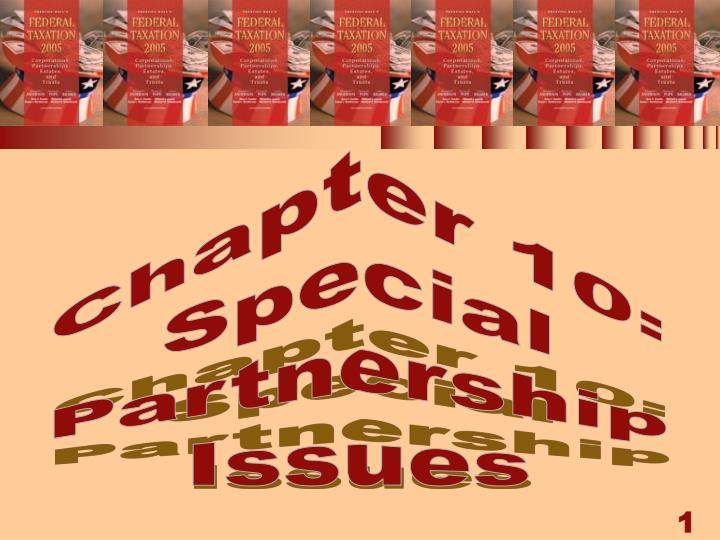 chapter 10 special partnership issues n.
