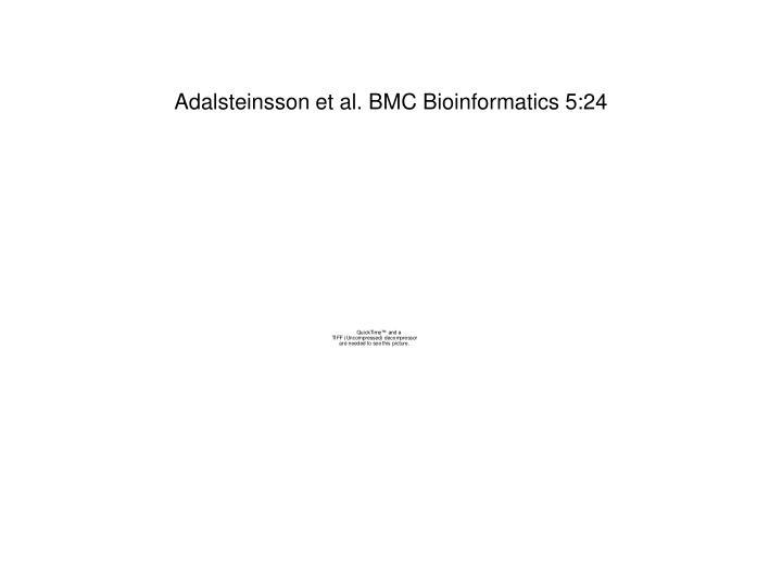 Adalsteinsson et al. BMC Bioinformatics 5:24