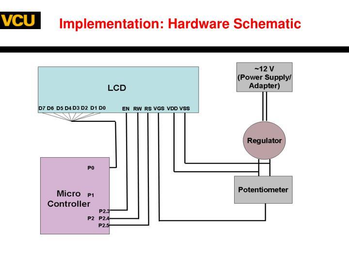 Implementation: Hardware Schematic