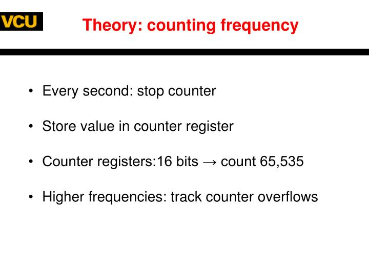Theory: counting frequency