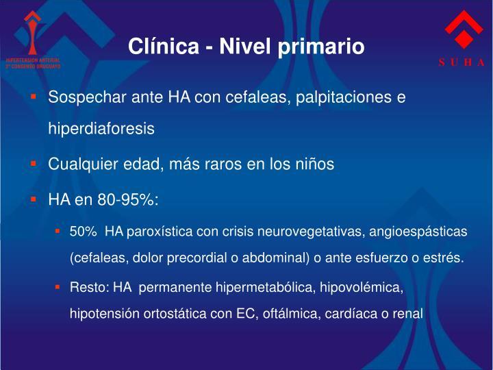 Clínica - Nivel primario