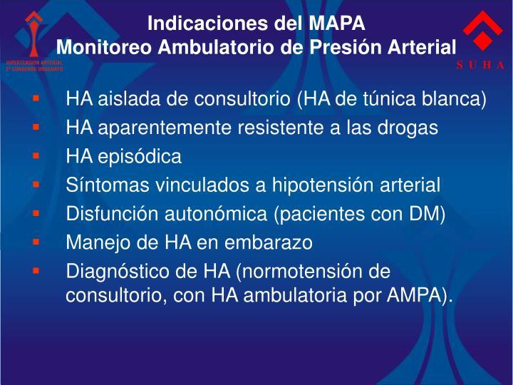 Indicaciones del MAPA