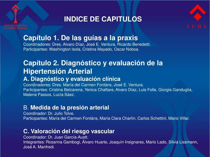 INDICE DE CAPITULOS