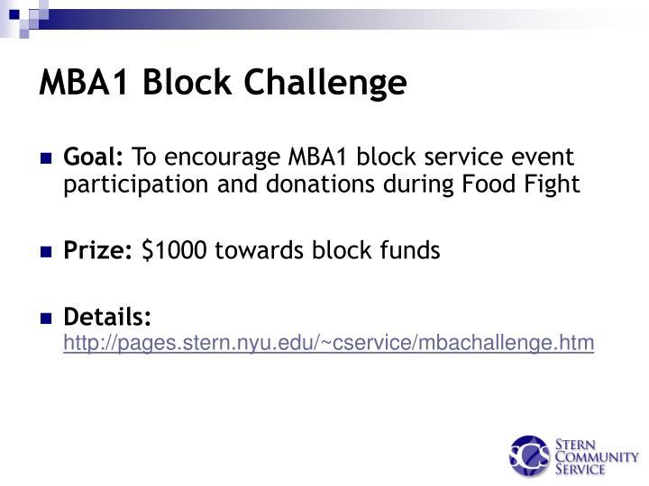 MBA1 Block Challenge