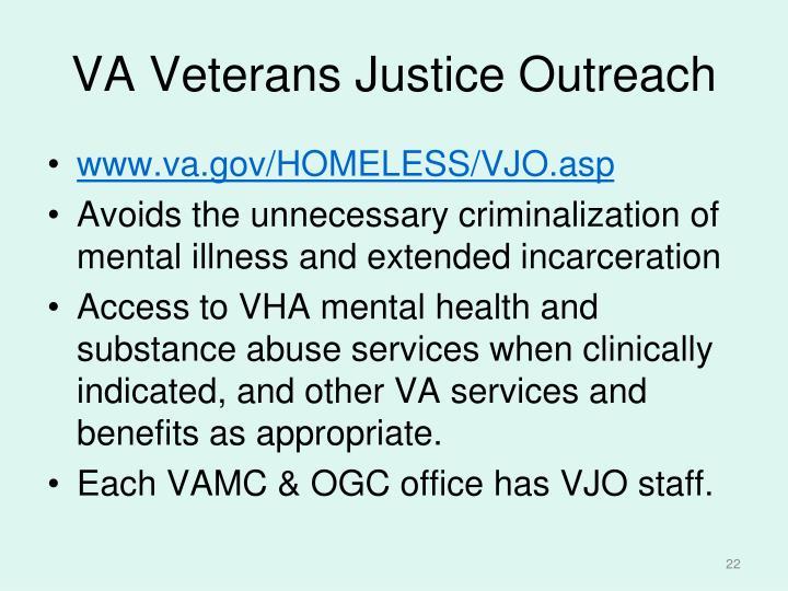 VA Veterans Justice Outreach