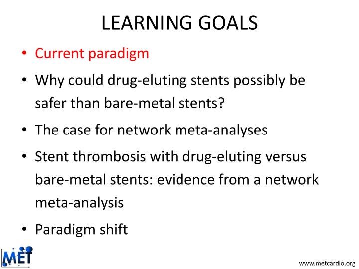 Learning goals1