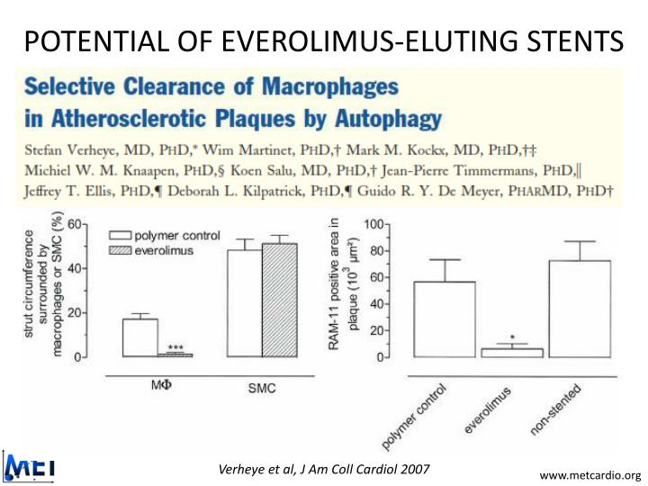 POTENTIAL OF EVEROLIMUS-ELUTING STENTS